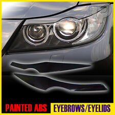 PAINTED BMW E90 EYELID HEADLIGHT EYEBROW EYELIDS 668 BLACK