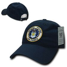 Navy Blue United States USAF Air Force Cotton Polo Military Baseball Cap Hat