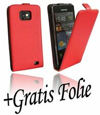 Accessories for Samsung Galaxy S2 i9100 Book flip Case + Foil Red - 1095