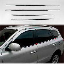 Chrome Door/Window Sill Belt Molding Trim Cover for 07-12 Santa Fe