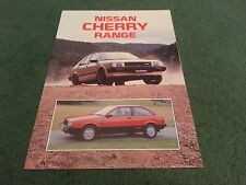 November 1984 / 1985 Model Nissan CHERRY L / GS / SGL / TURBO - 8 page BROCHURE
