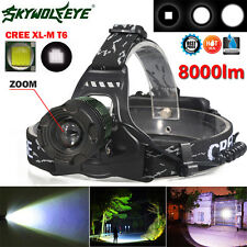 8000LM CREE XM-L T6 LED Headlamp Headlight ZOOM Head Light 18650 Super Lamp 1