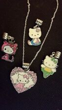 Hello Kitty 4 pc Charm Necklace set very Detailed Necklace set