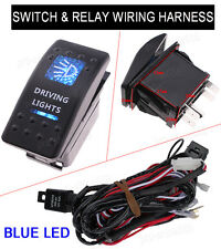 Universal 5Pin Car Dual DRIVING LIGHTS Switch Toggle ON-OFF Relay Harness Wiring