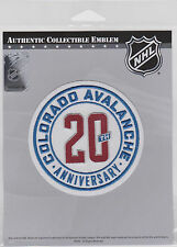 COLORADO AVALANCHE 20TH ANNIVERSARY PATCH