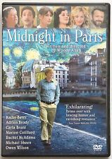 Midnight in Paris (DVD, 2011) Not sealed, but Never Played