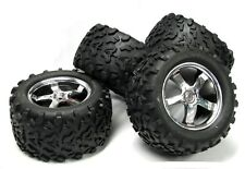 "T-Maxx 3.3 TIRES 4973 5373 (Assembled 4 WHEELS 6.3"" 14mm hex rims 4907 Traxxas"