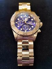 Invicta Men's 19157 Pro Diver Gold-Tone Bracelet Watch Flame fusion crystal 9in