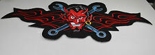 Patch  diable clés plate , us  ,biker,écusson,custom ,déco,