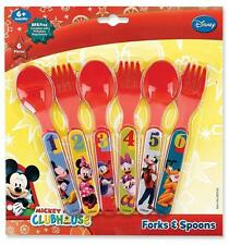 Disney Mickey Mouse Clubhouse Fork & Spoon Gift Set, Minnie Mouse, Donald Duck