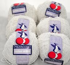 6 Skeins VINTAGE PINGOUIN COTON VRILLE 50g YARN Knit Crochet French White