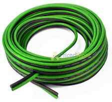 25 ft of 8 Gauge Black and Green Speaker Zip Wire Cable Car Home Audio CCA