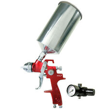 1.4 HVLP Gravity Feed SPRAY GUN Air Regulator Auto Car Paint Basecoat Clearcoat