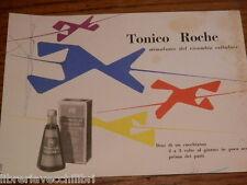 Vecchia carta assorbente TONICO ROCHE Stimolante del ricambio cellulare medicina