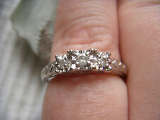 10k WG Three diamond ring, 2.9g, sz7