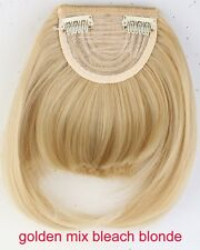 Hair Clip in Bangs Fake Hair Extension Hair Piece Clip on Front Neat Bang lkk