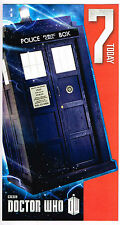 DR WHO - Age 7 Happy 7th Birthday Blue Tardis Card Dr Who Telephone Box
