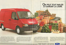 Publicité Advertising 1988  (Double page)  FORD TRANSIT  Utilitaire Fourgon
