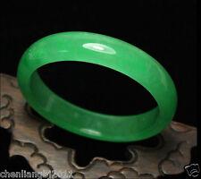 Certified Natural Beautiful Green Jadeite Jade Bangle Bracelet Handmade 56-65mm