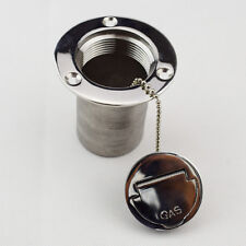 "Boat Deck Fill / Filler Keyless Cap 2""- Gas Marine 316 Stainless Steel Low Price"