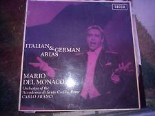 """LP 12"""" LXT 6140 MONO MARIO DEL MONACO ITALIAN & GERMAN ARIAS .S.CECILIA C.FRANCI"""