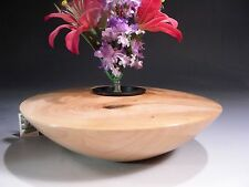 Figured Norway Maple Wood Ikebana Vase 11973 - Hand Turned - SMITHSONIAN Walsh