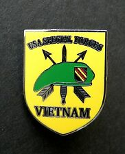 VIETNAM VET SPECIAL FORCES VETERAN LAPEL SHIELD PIN BADGE 1 INCH