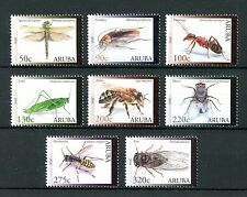 Aruba 2016 MNH Insects 8v Set Crickets Ants Bees Flies Dragonflies Stamps