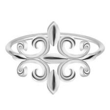 Handmade Stackable Rings for Women Statement Bijoux Fleur De Lis Ring