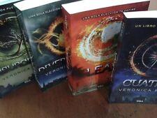 divergente, saga de 4 libros por Veronica Roth en español paperback