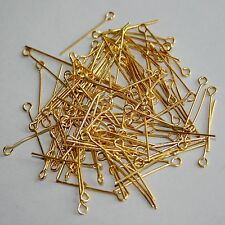 [wamami]24mm Golden Eye Pins Plated For BJD Dollfie Jewelry Finding DIY Craft