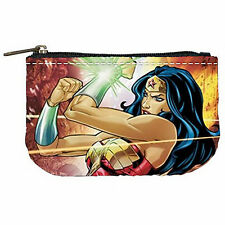 Wonder Woman Comic Mini Coin Purse (Pictures both sides) Gift NEW