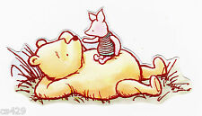 """4"""" DISNEY CLASSIC POOH & PIGLET NURSERY CHARACTER  PREPASTED WALL BORDER CUT OUT"""