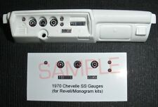 1970 CHEVELLE SS GAUGE FACES! - 1/24 scale - for REVELL/MONOGRAM KITS