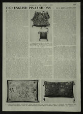 Old English Pin Cushion Antique Sewing ( History Of ) 1956 2 Page Photo Article
