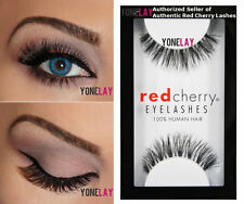 1 Pair AUTHENTIC RED CHERRY #523 Sage Human Hair False Eyelashes Strip Lashes