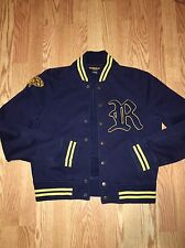 RARE Vintage Ralph Lauren Rugby varsity Jacket Mens M Patch Bomber DISCONTINUED