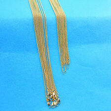 """Wholesale 5PCS 18""""  Fashion Jewelry 18K Gokd Filled Flat Curb Chains Necklaces"""