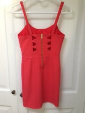 Orange Cut Out Dress By Sparkle & Fade From Urban Outfitters Adj. Straps Size XS