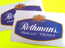 Rothmans Rally equipo carrera clásica Motorsport Stickers Calcomanías 2 frente a 125 mm