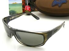 NEW Maui Jim SURF RIDER Grey & Black Stripe / Neutral Grey Polarized 261-11D
