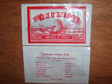 Fortune Telling Fish. (1) Great Party Favour or Fete Gift.