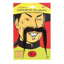 #CHINESE LONG AND BLACK MOUSTACHE FANCY DRESS ACCESSORY