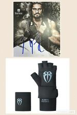 WWE WRESTLING OFFICIAL HAND SIGNED ROMAN REIGNS POSTER PHOTO AUTOGRAPH & GLOVE