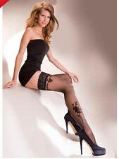 Ladies/Womens Lace top hold up with pattern Gabriella Lima Stocking Small Size