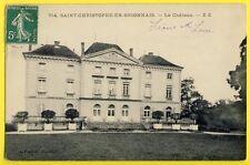 CPA castle France 71 - SAINT CHRISTOPHE en BRIONNAIS (Saône et loire) Le CHÂTEAU