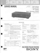 Sony Original Service Manual für STR-AV 220A/320R/RA