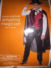 NWT Amazing Magician Top Hat Cape Boys  Halloween Costume Small (4-6)