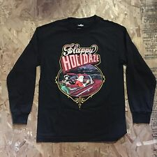 UNDEFEATED X MISTER CARTOON HOLIDAY HOMIES LONG SLEEVE T SHIRT BLACK SIZE M NWT