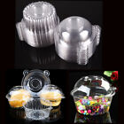 50Pc Clear Plastic Cupcake Box Single Cake Case Muffin Pod Dome Holder Container